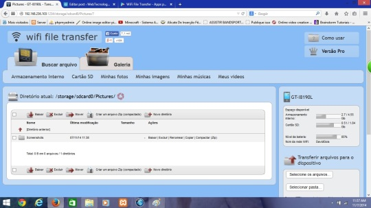 wifi file transfer navegador